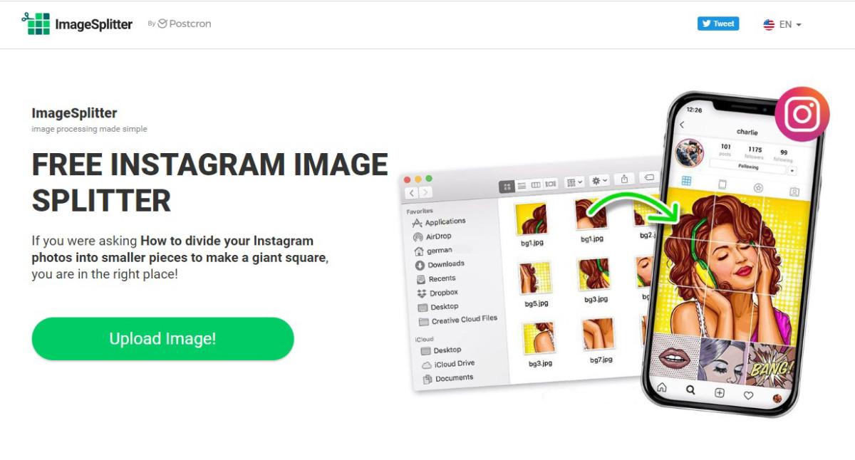 ImageSplitter - бесплатный сервис, разрезающий фотографию на несколько частей