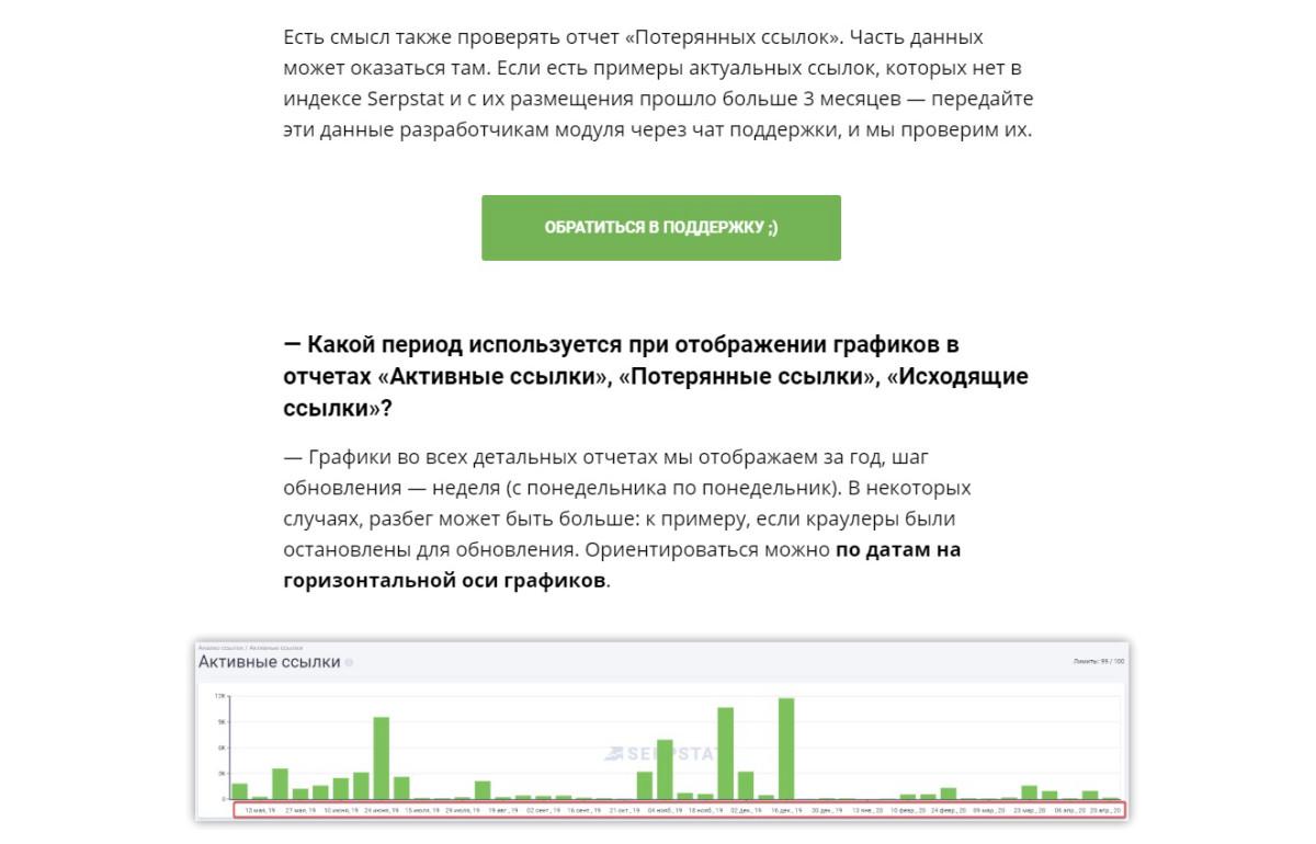 Пример оформления статьи на serpstat.com