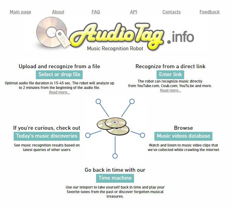 Онлайн-сервис для распознавания музыки Audiotag
