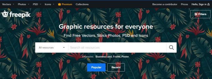Freepik - коллекция графического контента