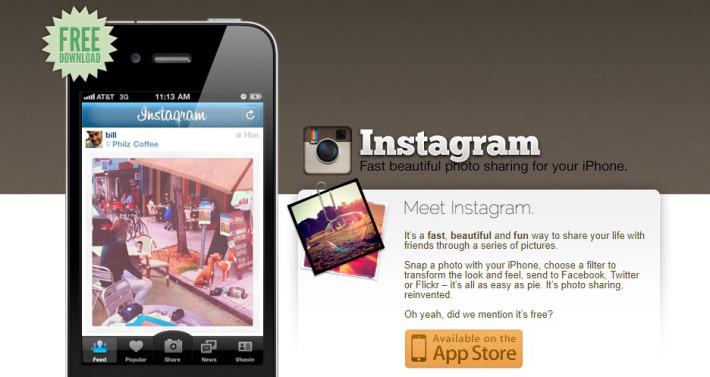 instagram.com. Скриншот от 31 декабря 2011 года