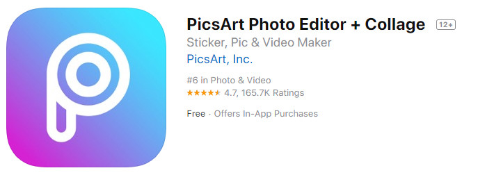 PicsArt - редактор фото с функцией создания коллажей